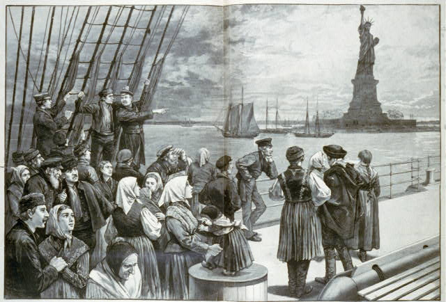 Immigrants arriving into the United States.